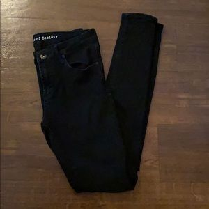 Articles of Society skinny jeans, black size 26